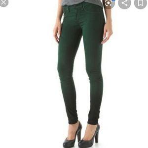 Rag & Bone jeans forest green modal leggings sz 26